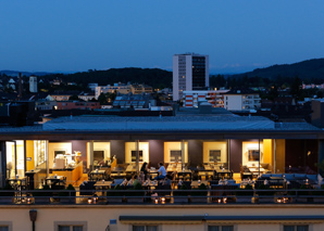 Dinner over the roofs of Biel