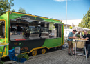 Creative market kitchen from the food truck